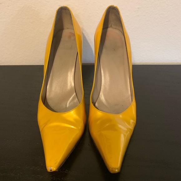 2c0f61c07058d Stuart Weitzman Shoes   Yellow Patent Leather Pumps   Poshmark